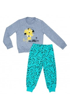 KIDS AWESOME LION PRINT EMBROIDERY SUIT