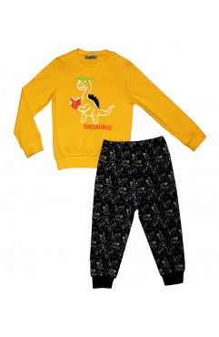 CHILDREN'S DINASOR PRINTING EMBROIDERY SUIT