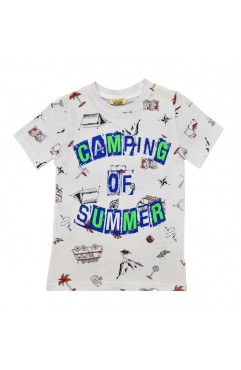 CAMPING OF SUMMER PRINT TSHIRT