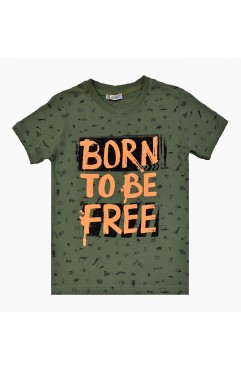 BORN TO BE FREE PRINT TSHIRT