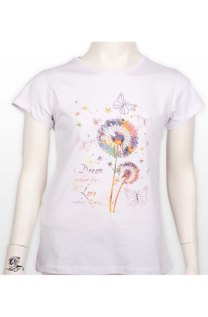 BUTTERFLY PRINTED GIRLS TSHİRT