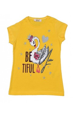 BETIFUL YOU SWAN PRINTING TSHIRT