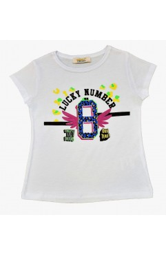 LUCKY NUMBER PRINT TSHIRT