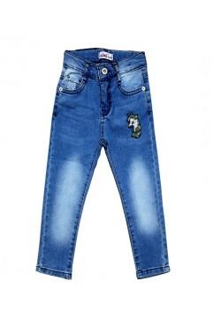 CHILDREN AT PUL EMBROIDERY DENIM PANTS