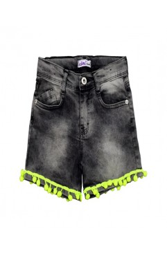 LACE ACCESSORY JEANS SHORTS