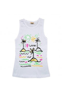 CHILDREN SUMMER TREE SİM PRINT ATLET