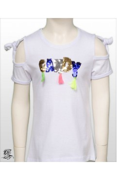 CANDY PRINTED GIRL CHILD TSHIRT