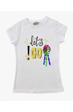 LET'S GO PRINTING EMBROIDERY TSHIRT