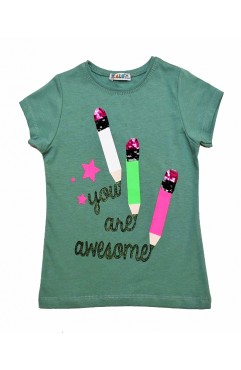 YOU ARE AWESOME PRINTING EMBROIDERY TSHIRT