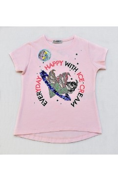 EVERDAY HAPPY PRINTING EMBROIDERY TSHIRT