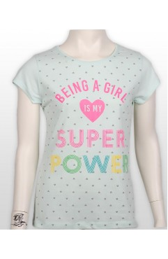 BEING A GIRL PRINTED GIRL KIDS TSHIRT