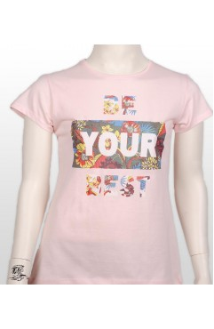 BE YOUR BEST PRINTED GIRL KIDS TSHIRT