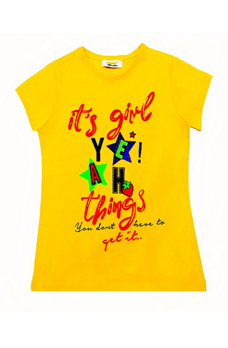 IT'S GİRL YILDIZ PRINTING TSHIRT