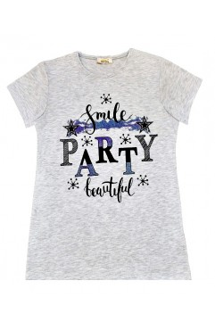 SMILE PARTY BEAUTIFUL PRINT TSHIRT
